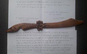 Outil précieux conservé par son frère oncle'Jo qu'utilisait Bonne-Maman quotidiennement avec toutes ses associations caritatives